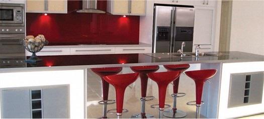 Cocinas integrales rojo blanco negro - Color de cocinas modernas ...