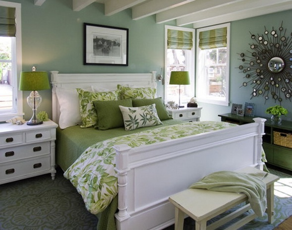20 encantadores dormitorios color verde - Habitaciones de color verde ...