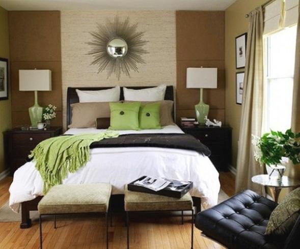 20 encantadores dormitorios color verde - Combinaciones de colores para pintar una habitacion ...