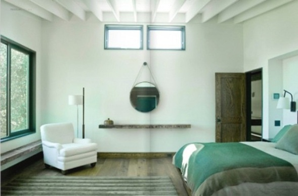20 encantadores dormitorios color verde for Dormitorios verde agua