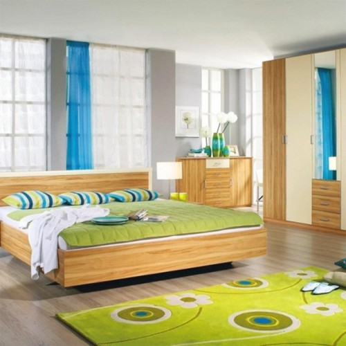 20 encantadores dormitorios color verde - Dormitorio verde ...