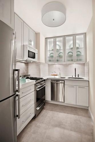 cocina pequeña color blanco