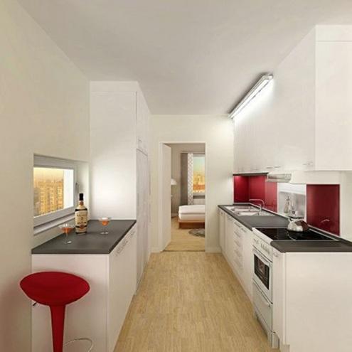 15 lindas fotos de cocinas peque as - Como amueblar una cocina pequena ...