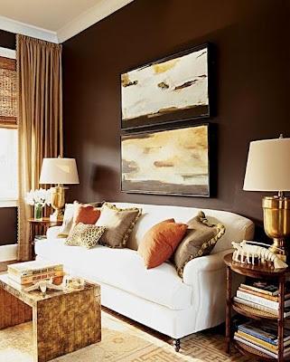Fotos de salas marr n chocolate - Pared marron chocolate ...