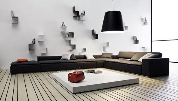 Fotos de salas marr n chocolate for Casa minimalista rojo