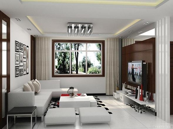 continuación algunas salas pequeñas y modernas decoradas.