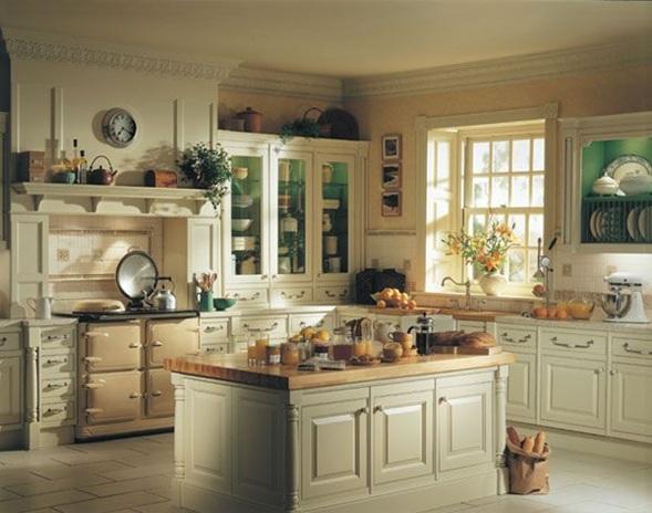 cocina estilo clasico 1 - Cocinas Clasicas Blancas
