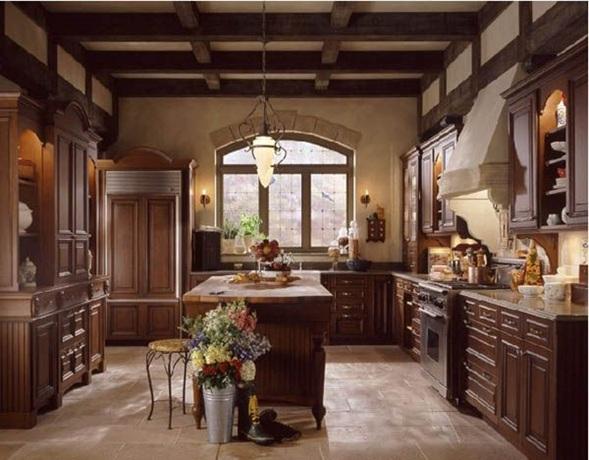 Fotos de cocinas cl sicas con muebles de madera for Cocinas clasicas elegantes