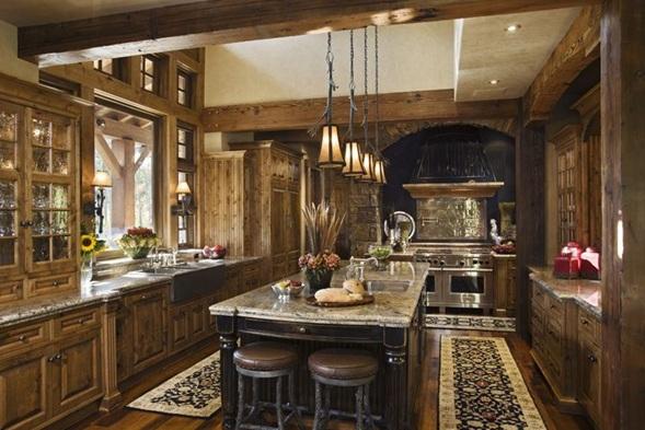 Fotos de cocinas cl sicas con muebles de madera - Cocinas clasicas elegantes ...