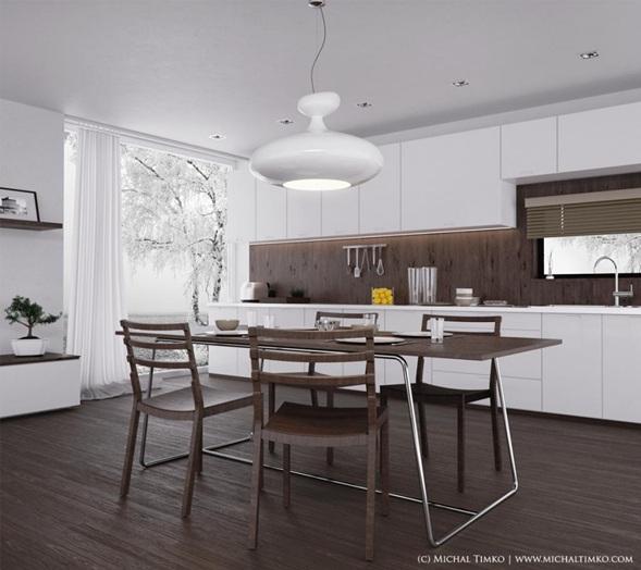 15 cocinas modernas color marr n for Armani arredamenti