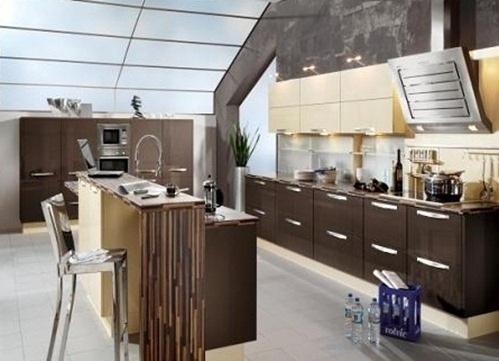 cocina-moderna-color-marrón