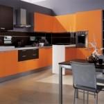 Cocinas Modernas en Color Naranja