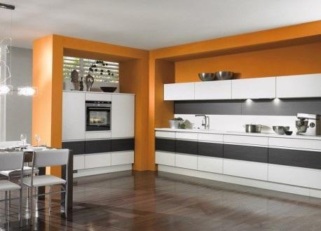 Cocinas modernas color naranja - Cenefas modernas para cocina ...