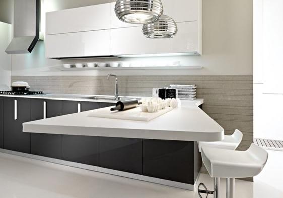 Cocinas modernas color gris - Cocinas blancas y gris ...