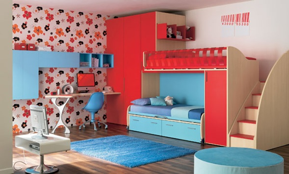 Dormitorios modernos con literas para ni os - Camas divertidas para ninos ...