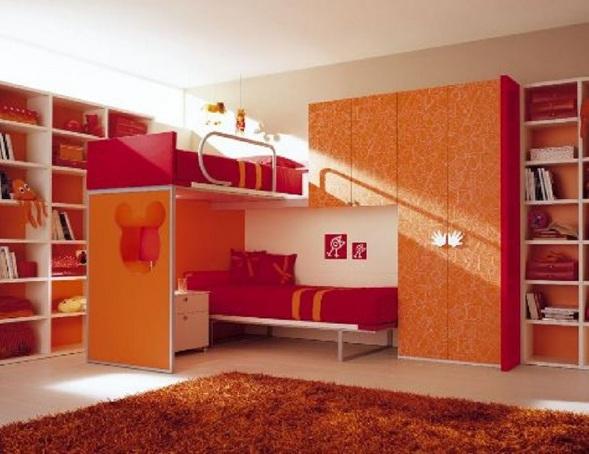 Kids Bunk Bed Room Idea 589 x 454