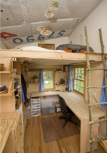 Dormitorios Con Camas Loft Para Jvenes Ideas Y Fotos
