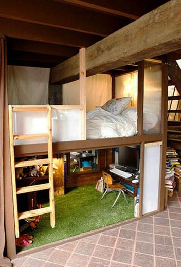Dormitorios Con Camas Loft Para J 243 Venes Ideas Y Fotos