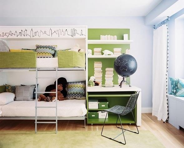 Dormitorios modernos con literas para ni os for Recamaras con literas