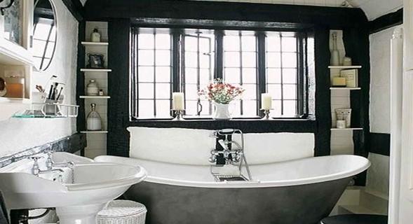 Blanco y negro for Departamentos decorados en blanco