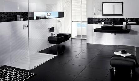 baño blanco y negro masculino