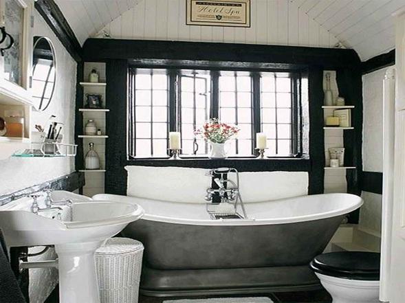 Imagenes Baños Femeninos:Baños en Color Blanco y Negro