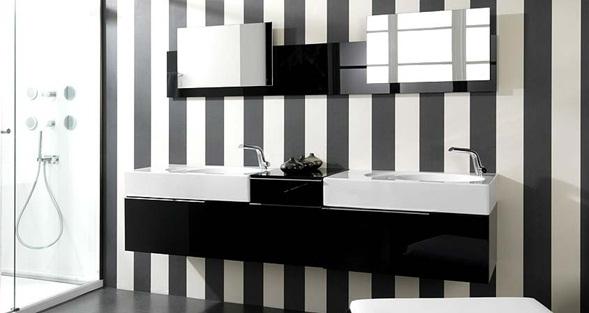 Baños Modernos Tonos Marrones:tonos, vemos en paredes en blanco, paredes en negro o en ambos tonos
