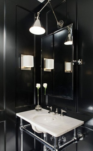 baño elegante color negro
