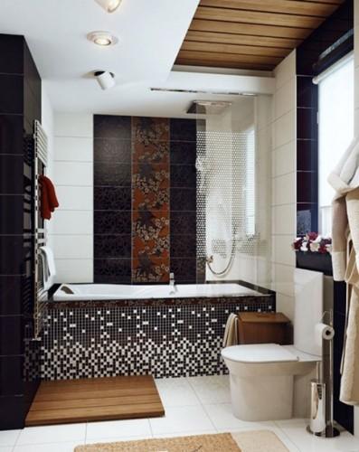 baño pequeño y elegante