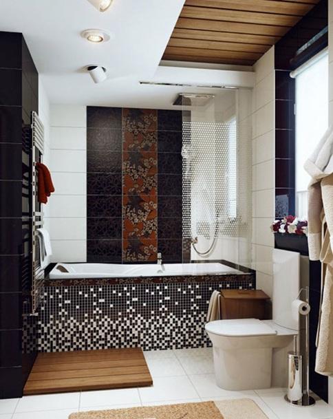 Baño Elegante Pequeno:Observa estos baños pequeños que con poco espacio disponible se