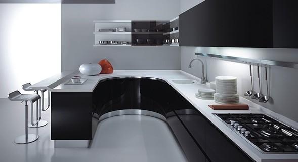Blanco y negro - Cocina blanco y negro ...