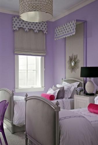 dormitorio compartido lila