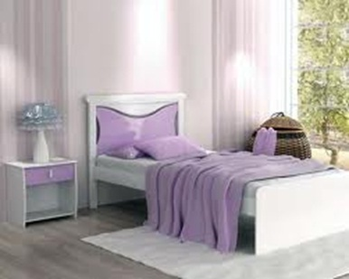 dormitorio juvenil acentos lila
