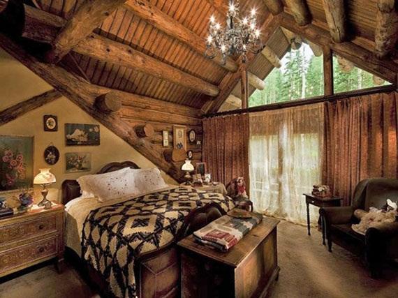 Lampara Baño Rustico:Las camas son el centro de atención del dormitorio rústico, vemos