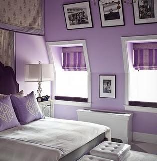 habitacion juvenil color lila
