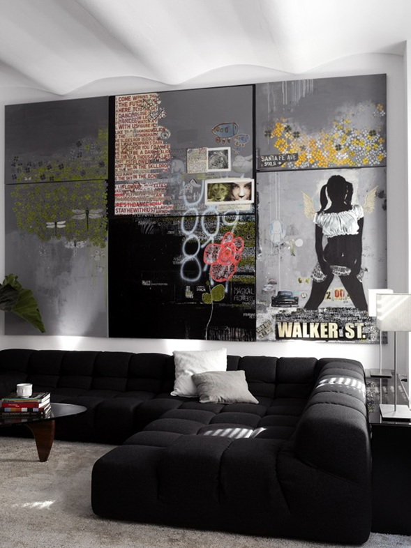 Salas con Sofás Color Negro
