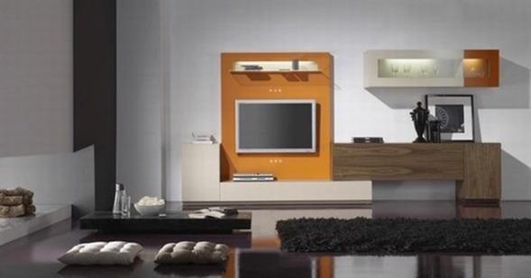 sala con mueble tv moderno