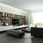 Salas Modernas con Muebles TV Espacio de Entretenimiento
