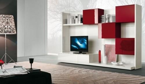 sala con tv moderna