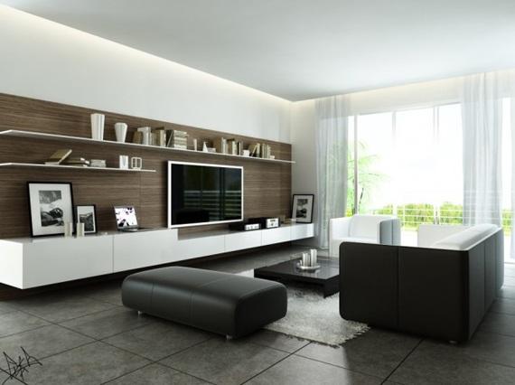 Salas modernas tv centros entretenimiento for Salas en l modernas
