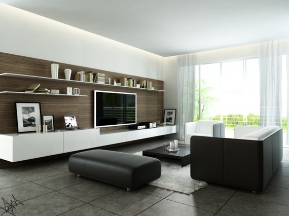 Salas modernas tv centros entretenimiento for Muebles para sala de tv