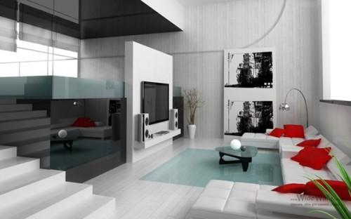 sala moderna con tv