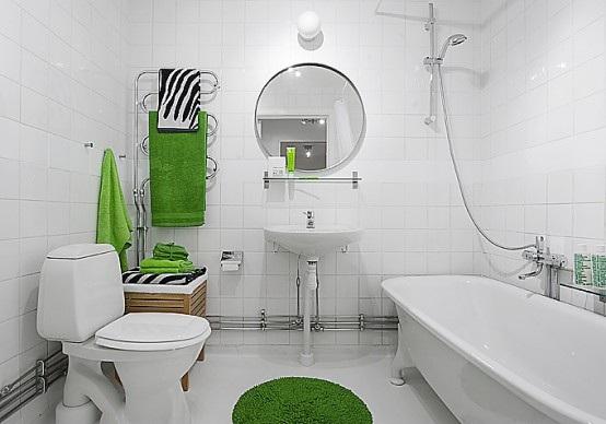 Baño Verde Con Blanco:Estupendas Fotos de Baños en Color Verde
