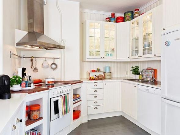 10 cocinas color blanco estilo escandinavo - Objetos decoracion cocina ...