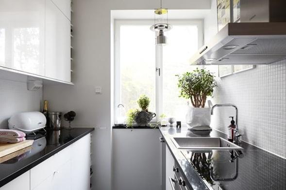 10 cocinas color blanco estilo escandinavo for Cocinas blancas pequenas