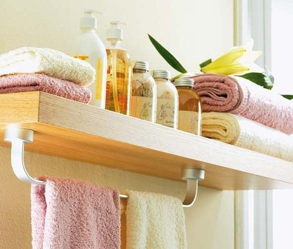 Ideas para organizar ba os peque os for Very small bathroom storage ideas
