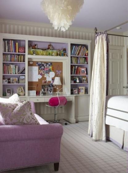 Zonas de estudio para dormitorios de adolescentes - Decorar habitacion estudio ...