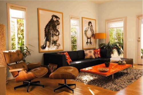 foto sala naranja