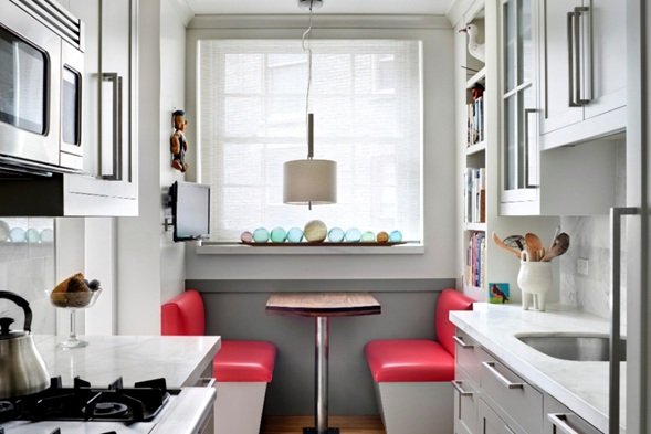 Cocinas galera maximizar espacio for Cocina office pequena