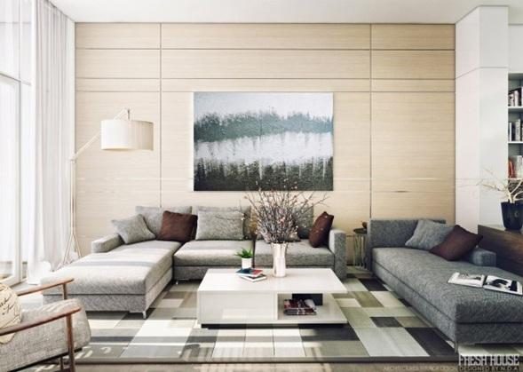 Iluminar tu sala moderna - Decorar esquinas ...